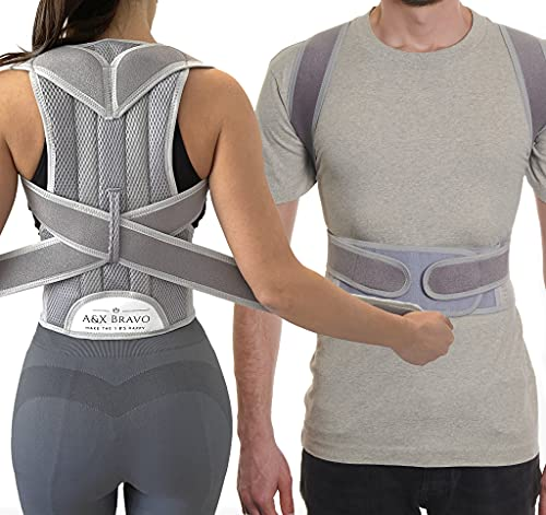 A&X Bravo Posture corrector for men and women, Offering Back Pain relief,...