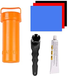 Nicemeet Inflatable Boat Repair Kit, Paddle Board Repair Kit, Includes Several PVC Patch, Glue, Repair Bucket and Wrench, ...
