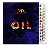 La pintura de aceite Set - 24 colores de pintura 12ml Tubes- artista pinta grado para profesionales, principiantes y estudiantes - Ideal para murales, lienzo, Retrato y Pintura - Suministros Mozart