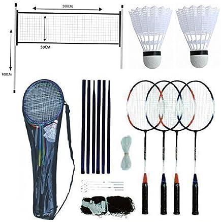 BADMINTON SET Professional 4 Player Racket Shuttlecock Poles NET Bag Game 211074, Shuttle
