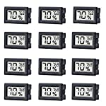 12 Pack Mini Small Digital Electronic Temperature Humidity Meters Gauge Indoor Thermometer Hygrometer LCD Display… 7 Mini Digital Humidity Thermometer allows you to easily know the environment temperature and humidity around you 2in1 meter with built-in probe; digital electronic thermometer and hygrometer for measuring temperature and humidity for indoor use Fahrenheit (°F) display, this thermometer displays temperature in Fahrenheit