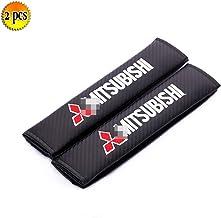 2 Funda de cinturón de Seguridad Cojín de Hombro para Mitsubishi Lancer Ralliart/ASX/Pajero/Outlander, etc.Correa de Hombro para el cinturón de Seguridad del automóvil para Uso de niños Adultos