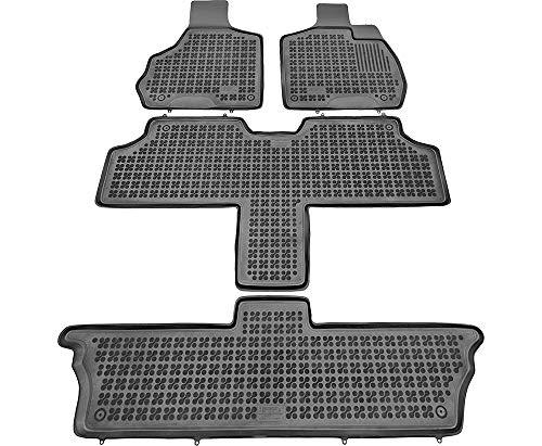 Alfombrillas de Goma Compatible con Chrysler Voyager IV versión 7 pasajeros (2001-2007) + Limpiador de Plasticos (Regalo) | Accesorios Coche Alfombrilla Suelo