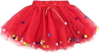 YOHA Baby Girls Tutu Dress Pom Pom Balls Soft Tulle Tutu Dress for Toddler Girls