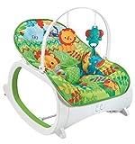 Cadeira de descanso vibratória musical e com balanço safari Verde até 18kgs