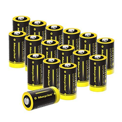 CR123A 3V Lithium Batterie, 16Stück 1500mAh CR17345 batterien für Digitalkameras, Alarmanlagen, Sicherheitstechnik, Rauchmelder, Taschenlampen usw. - [Nicht wiederaufladbar]