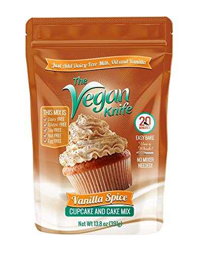 The Vegan Knife Gluten Free & Vegan Cupcake and Cake Mix Vanilla Spice Flavor