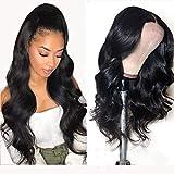 NIUDINNG Perruque Naturelle Brésilien Cheveux Naturel Humain Vrai 100% Bleached Knots Free Part Lace Front Wigs 13x4 Perruque Cheveux Vierge Ondule 16 pouce NIUDINNG Hair