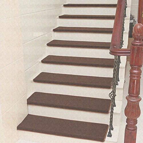 XOCKYE 15pcs Tappeto Adesivo Stair Gradini Zerbino Non-Slip Copertura di Protezione Passo Tappetini tappeti per Scale Interne a chiocciola@Verde_65x24cm