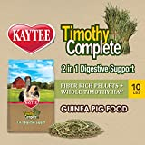 Kaytee Timothy Complete Guinea Pig 2 in 1 Digestive Support, 10lb 10 pounds