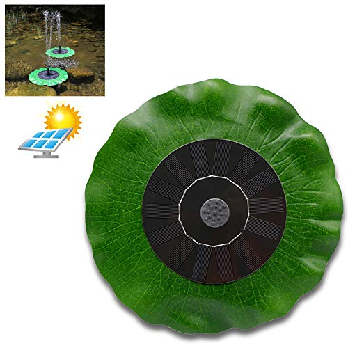 Hihey Voetpomp op zonne-energie, voor vogel, badkamer, vistank, aquarium, tuin, gazon, waterpomp, paneelkit, lotusblad, drijvende pomp