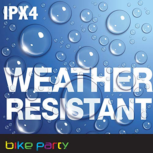 Bike Party Light Up Weather Resistant Bicycle Bell Multi-Color