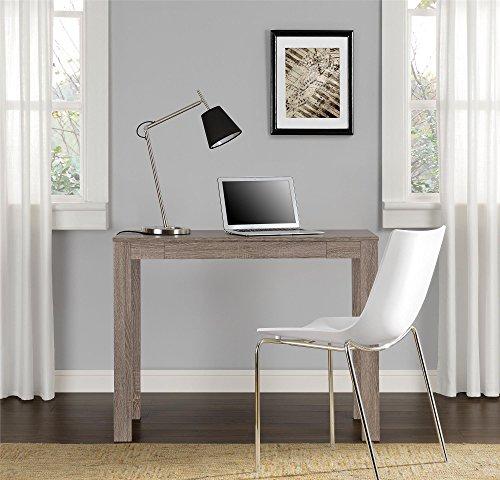 Ameriwood Home Delilah Parsons Desk with Drawer, Sonoma Oak