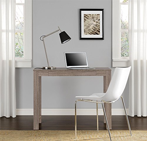 Ameriwood Home Delilah Parsons Desk with Drawer, Sonoma Oak