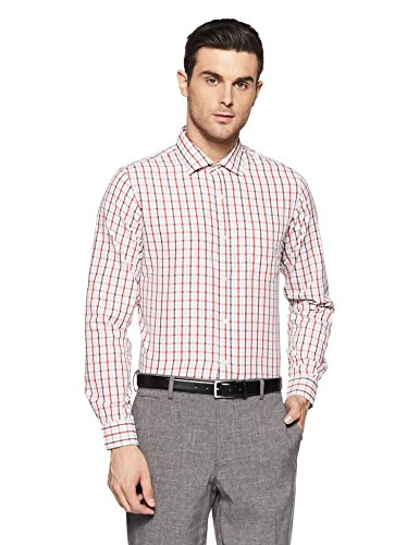 Excalibur Men's Formal Shirt (8907542556953_400016477962_42_Red)