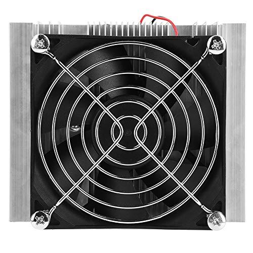 QIRG Ventilador termoeléctrico, Enfriador termoeléctrico Profesional, pequeño Dispositivo de enfriamiento doméstico de 12 V, Mini Aire Acondicionado para refrigerador pequeño