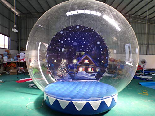 JYNselling 2.8m/9.18ft Inflatable Snow Globe Transparent Bubble Airblown Tent Christmas Blow Up Includes 2 Blowers (110V Blower)