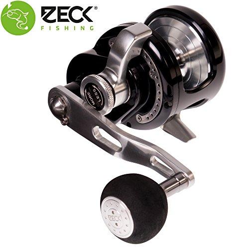 Zeck VR 5 Multirolle Linkshand - Wallerrolle zum Vertikalangeln auf Welse, Welsrolle zum aktiven Angeln auf Waller, Angelrolle für Wels