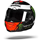 Shark Casco de moto RACE-R PRO LORENZO MONSTER MAT KRW, Negro/Rojo/Blanco, XL