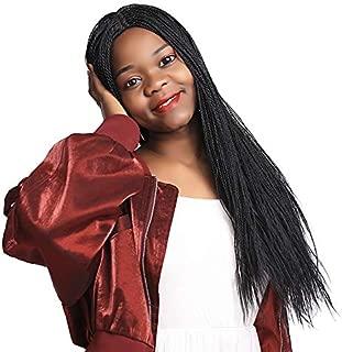 Micro Million Twist Wig 28 Inches Micro Braids Wig Handmade Senegalese Twist Wig Black Mini Mid-Split Twist Wig