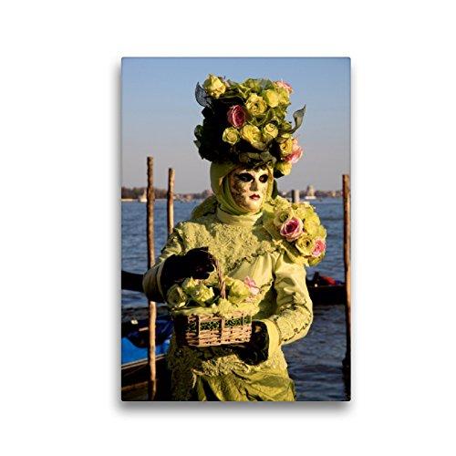 Premium Textil-Leinwand 30 x 45 cm Hoch-Format Karneval in Venedig - Phantasievolle Masken | Wandbild, HD-Bild auf Keilrahmen, Fertigbild auf hochwertigem Vlies, Leinwanddruck von Erika Utz