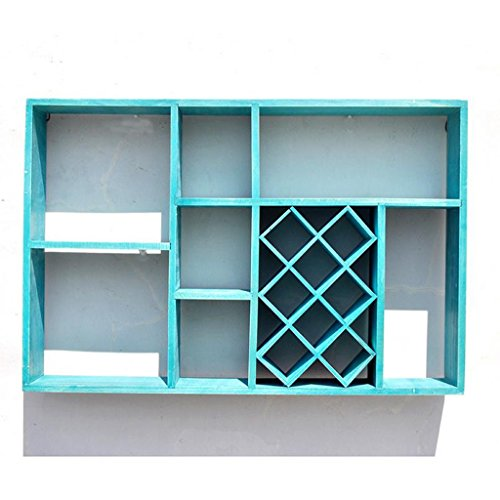 Woonkamer Rek, Vintage Wall Storage Rack, Studie Slaapkamer Display Stand, 60 * 9.5 * 40CM/23,6 * 3.7 * 15.7in GLF