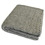 Baby Warm Blanket: Washable Merino Wool Receiving Thermal Blanket, 31x40 inches (Grey)