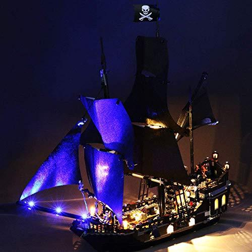 FFCVTDXIA Nave de Piratas caribeños con Luces Modelo de Juguete de Bloques de construcción de niños con Luces Decoración de Interiores Barco de Pirata con iluminación para niños Regalo zhihao