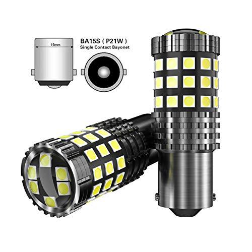 2pcs Lampadine 1156 BA15S P21W LED canbus Auto Retromarcia Parcheggio Luci Posteriori DRL Luci di Marcia Diurna 12V 6000K bianco
