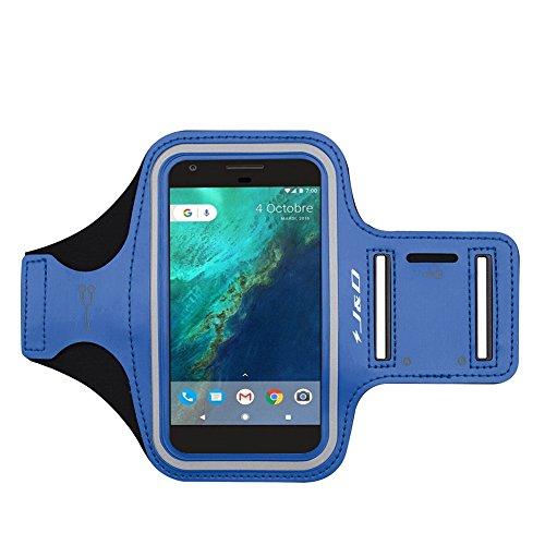 J&D Armband Compatible for Google Pixel 6 Pro/Pixel 6/Pixel 4 XL/Pixel 3 XL/Pixel 3a XL/Pixel 3 XL/Pixel 2 XL/Pixel XL Armband, Sports Running Armband with Key Holder Slot Earphone Connection