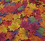 Repuhand 300 Piezas Hojas de Arce Otoño Papeles Artificiales Multicolor Decoración para Fiesta Decoración de la Boda del Jardín de 6 Colores