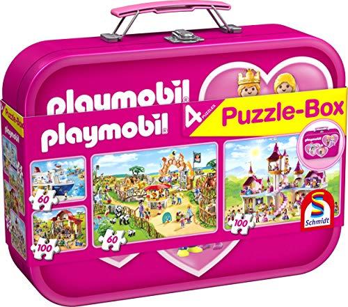 Schmidt Spiele- Puzzle-Box: Playmobil 56498-Puzzle