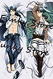 FUNKY STORE Attack on Titan Levi 150cm x 50cm (59 inch x 19.6 inch) Body Pillowcase, Pillow Cover