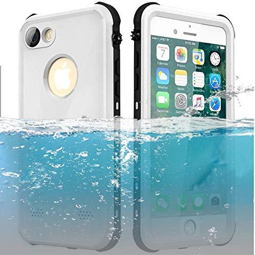 ChuWill Funda Impermeable iPhone 7, Carcasa iPhone 8, Certificado IP68 Antigolpes Sumergible Protección 360º Funda para iPhone 7/8 (4.7 Inch) - Blanco