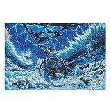 CCMugshop Divertido puzzle vintage de barco pirata, esqueleto, tormenta, olas del mar, 500/1000 unidades, Educational Gift White 500 piezas
