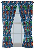 """Jay Franco Marvel Avengers Fighting Team 63"""" Inch Drapes - Beautiful Room Décor & Easy Set Up, Bedding - Curtains Include 2 Tiebacks, 4 Piece Set (Official Marvel Product)"""