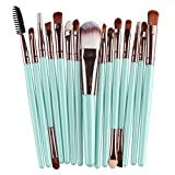 Hosaire 15Pcs Maquillaje profesional de los cepillos kit de sombra de ojos cepillo de base cejas cepillos del maquillaje forma del cepillo de dientes