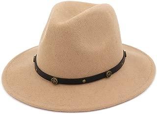 HaiNing Zheng Wool Wide Brim Felt Trilby Fedora Hat For Womem Men Winter Auturmn Cashmere Gangster Church Hat