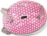 Götz 3402331 Fahrradhelm White Dots - Reithelm mit weißen Punkten für Puppen - tragbar für...