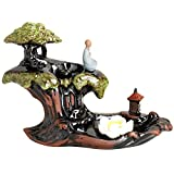 LEAFIS Incense Waterfall Burner Ceramic Handcrafted Mountain Backflow Incense Burners for Office...