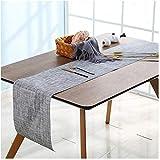 6er Platzdeckchen mit einem Tischläufer,Eageroo Rutschfest Abwaschbar Tischmatten aus PVC Abgrifffeste Hitzebeständig Tischsets Schmutzabweisend,Hellgrau (6er Platzsets + ein Tischläufer) - 4