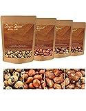 Erdnüsse geröstet (Saigon Special) 4 x 250 g Mix, ganze Nüsse mit Haut, in Reisteigmantel, mit Meersalz gewürzt, mittelscharf