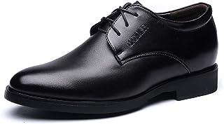 Sunny&Baby Zapatos Oxfords para Hombre con Cordones de 3 Ojales, tacón bajo en Bloque, Cuero sintético, Suela de Goma, Liso