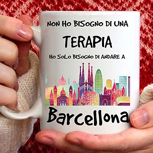 Taza Barcelona apta para desayuno, té, tisana, café, capuchino. Gadget Taza: Ho Solo tienes que ir a Barcelona. Idea regalo original