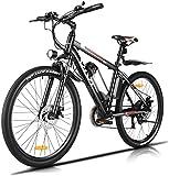 Vivi Bicicletas Electricas de Montaña, Bicicleta Montaña Adulto 26 Pulgadas, Bicicletas Montaña Eléctricas, con Batería de Litio Extraíble de 36 V 8 Ah y Engranaje Shimano de 21 Velocidades