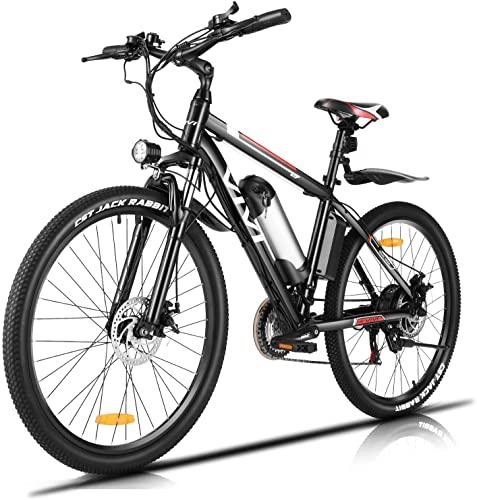 Vivi Elektrofahrrad Ebike Mountainbike, 26 Zoll E Bike Elektrofahrrad Herren Damen mit Abnehmbare 36V/8Ah Batterie/21-Gang Getriebe/Höchstgeschwindigkeit 25km/h/Kilometerstand Aufladen Bis (26'')