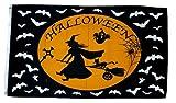 Fahne / Flagge Happy Halloween Hexe 90 x 150 cm