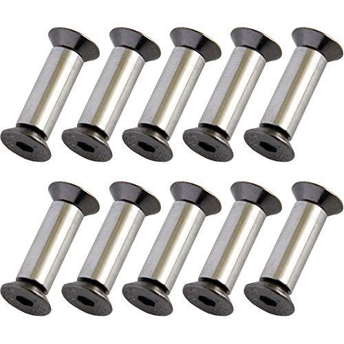 KYT-My 10pcs / Lot Messergriff Schraube Nieten Maßstab Schraubbefestigung Nut Flache Sechskantmesser Fastening DIY Material Herstellungs
