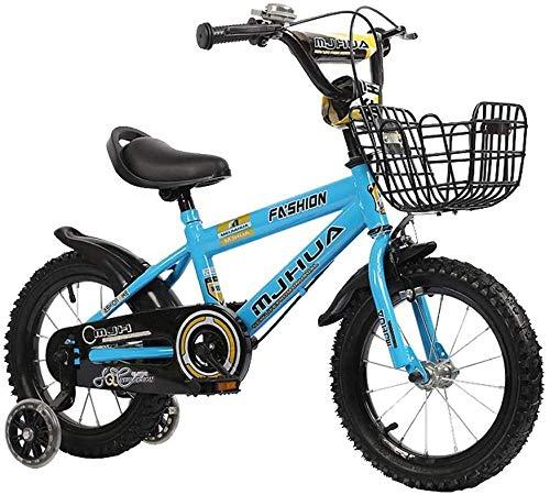 Fuli High Carbon Acero NIÑO Bicicleta Tamaño de la Bicicleta 14 Pulgadas 3 Estabilizador de Cinta Fender Y Soporte-Azul