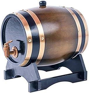 Oak Barrel, 5L Partie Baril De Vin, Revêtement De Feuille D'aluminium Intégré Whisky Baril Armoire À Vin Stockage Du Vin B...